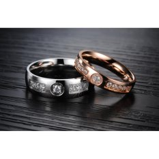 Titanium Cincin Couple - Cincin Tunangan - Cincin Nikah CC065