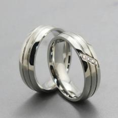 Titanium Cincin Couple - Cincin Tunangan - Cincin Nikah CC083