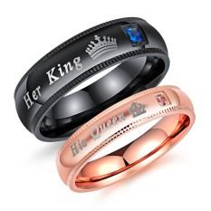Titanium Cincin Couple - Cincin Tunangan - Cincin Nikah CC105