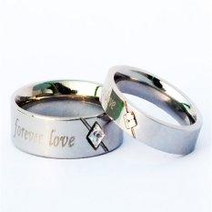 Diskon Besartitanium Cincin Couple Forever Love Silver Ring