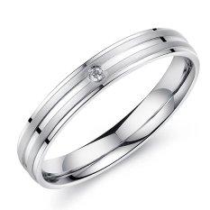 Toko Titanium Cincin Couple Line Ring Silver Titanium Online