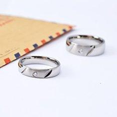 [Bisa Bayar Di Tempat] 2 Cincin + Kotak Cincin Couple / Kawin / Tunangan Original cc005