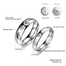 Model Titanium Cincin Couple True Love Ring Silver Terbaru