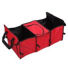 Tokokadounik Car Ez Trunk Organizer Cooler - Besar Dan Kecil Merah