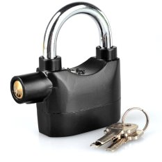 Toko Kado Unik-Gembok Alarm Anti Maling - Free Baterai Cadangan