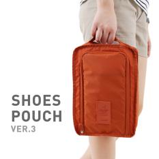 Tokokadounik Shoes Pouch Versi 3 - Tas Sepatu Bisa Besar Dan Kecil Orange