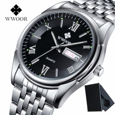 Toko Top Brand Luxury Mens Bisnis Watches Full Steel Waterproof Men Sport Quartz Wrist Watch Male Clock Relogio Masculino 8802 Intl Di Tiongkok