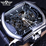 Beli Top Luxury Brand Winner Watch Men Automatic Mechanical Leather Strap Date Calendar Sports Male Wristwatch Relogio Masculino Intl Di Tiongkok