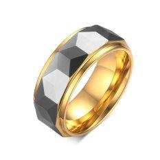 Top Quality 18 K Berlapis Emas Tinggi Dipoles Pria Tungsten Cincin Ukuran 7-12-Intl