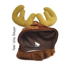 Topi Kostum Lucu Bertanduk untuk Hewan Peliiharaan