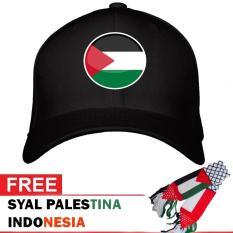 Topi Palestina - Denim - Bonus Syal Palestina - Palestine Army