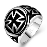 Harga Toprank Fashion Mens Retro Funk Cross Punk Ring Size 8 Asli Oem