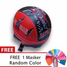 Spesifikasi Toserba Helm Anak Lucu Usia 1 4 Tahun Karakter Batman Merah Hitam Free Masker Mulut Paling Bagus