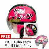 Jual Toserba Helm Anak Lucu Usia 1 4 Tahun Karakter Boboi Boy Merah Hitam Free Motif Litle Pony Murah Jawa Timur