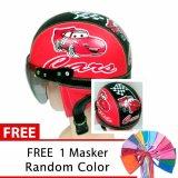 Jual Toserba Helm Anak Lucu Usia 1 4 Tahun Karakter Cars Merah Hitam Free Masker Mulut Toserba Original