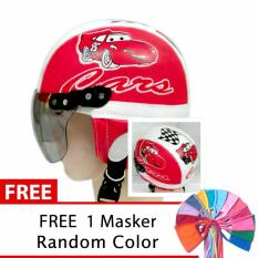 Beli Toserba Helm Anak Lucu Usia 1 4 Tahun Karakter Cars Merah Putih Free Masker Mulut Cicilan