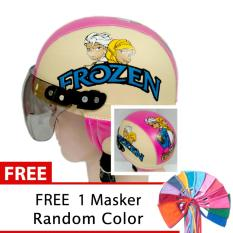 Promo Toserba Helm Anak Lucu Usia 1 4 Tahun Karakter Frozen Pink Cream Free Maker Mulut