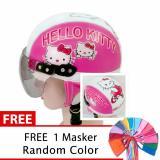 Spesifikasi Toserba Helm Anak Lucu Usia 1 4 Tahun Karakter Hello Kitty Pink Putih Free Masker Mulut Online