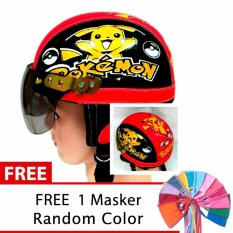 ... Free Masker MulutIDR40000. Rp 40.000. Toserba - Helm Anak Lucu Usia 1-4 Tahun Karakter Pokemon - Hitam/Merah ...