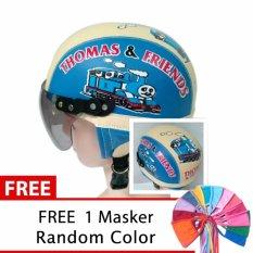 Toserba - Helm Anak Lucu Usia 1-4 Tahun Karakter Thomas - Biru/Cream