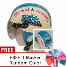 Harga Toserba Helm Anak Lucu Usia 1 4 Tahun Karakter Thomas Cream Biru Free Masker Mulut Di Jawa Timur