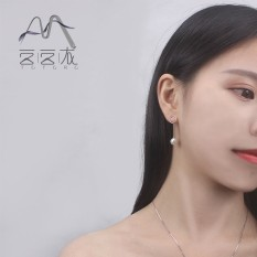 Totoro Di Korea Selatan Korea Fashion Temperamen S925 Perak Perhiasan Imitasi Pearl Anting dan Wanita Earrings-Intl