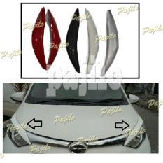 Aksesoris Mobil Toyota Calya Daihatsu Sigra Mata Sipit Aksesoris Alis Headlamp Head Lamp Cover Pelindung Lampu Depan Utama Fiber Atas Asesoris Mobil Acesoris Mobil Calya Sigra