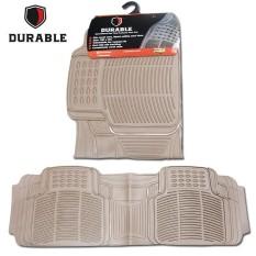 TOYOTA KIJANG LGX Karpet Mobil Karet PVC DURABLE 1Pcs Baris 3 Beigie