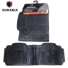 TOYOTA KIJANG LGX Karpet Mobil Karet PVC DURABLE 1Pcs Baris 3 Black