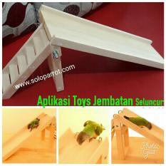 Toys Seluncur Buat Burung Parrot Falk Lovebird Nuri Afgrey Kakaktua