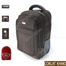 Tracker Tas Ransel  18 inchi 78319 laptop 14 inchi Bonus Bag Cover – Coklat Khaki