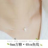 Harga Kalung Perak Sterling Tidak Terlihat Kalung Sederhana Bor Online Tiongkok