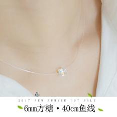 Toko Kalung Perak Sterling Tidak Terlihat Kalung Sederhana Bor Online Tiongkok