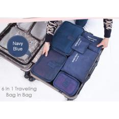 Travel Bag 6in1 Set Storage Baju Kotor Organizer Koper Limited