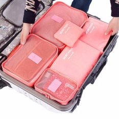 Fortune - Travel Bag 6in1 Set Storage Baju Kotor Organizer Koper Luggage Warna Random