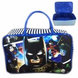 Beli Travel Bag Kanvas Batman Superman Lego Movie Blue White Online