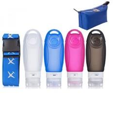 Botol Perjalanan Luggage Strap Suitcase Belt TSA Disetujui Silicone Carry On Shampo Conditioner Botol Set-Intl