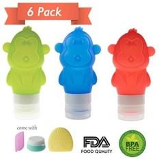Botol Perjalanan Set, Bpa Gratis Silicone Travel Size Botol Wadah Kosmetik untuk Shampoo, Conditioner, Lotion, Perlengkapan Mandi-Intl