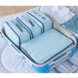 Toko Cocok Untuk Traveling 4 Pcs Set Besar Kapasitas Waterproof Travel Packing Pakaian Sepatu Organizer Tas Fashion Ritsleting Packing Organizer Biru Intl Online