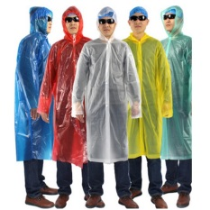 Jual Travel Portable Raincoat Filament Thick Section Transparent Murah Dki Jakarta