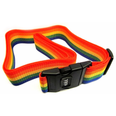 Jual Travel Rainbow Luggage Coded Lock Suitcase Belt Stripe Tali Koper Password Multi Color Branded