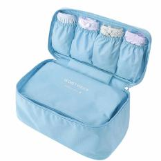 Jual Travel Underwear Pouch Version 2 Light Blue Travel Online