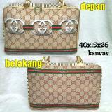 Toko Travelbagmurah Travel Bag Kanvas Gucc Rantai Di Jawa Barat