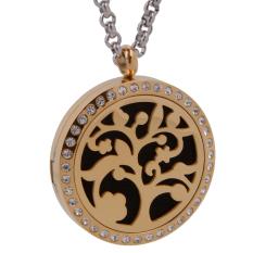 Daftar Harga Tree Of Life Aromaterapi Perfume Essential Oil Diffuser Necklace Locket Intl Magideal