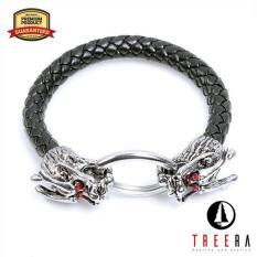 Treera Gelang Kulit Pria Naga Dragon Premium Keren Dragon Bracelet