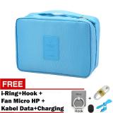 Trend S Monopoly Bag Travel Organizer Biru Gratis I Ring Hook Fan Micro For Smartphone Kabel Data Charging Murah