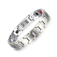 Trendi Gelang Bangle untuk Pria Stainless Steel Perawatan Pelangsing Magnetic/germanium-Intl