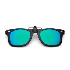 Spesifikasi Trendi Clip On Flip Up Karet Klip Kacamata Hitam Terpolarisasi Lensa Hitam Biru Hijau Intl Oem Terbaru