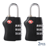Harga Tsa Lock Approved Luggage Locks 3 Dial Code Padlock For Travel Suitcase 2 Pcs Yang Bagus