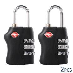 Beli Tsa Lock Approved Luggage Locks 3 Dial Code Padlock For Travel Suitcase 2 Pcs Tsa Lock Online